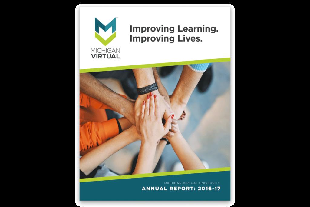 Cover of the Michigan Virtual Annual Report 2016-17