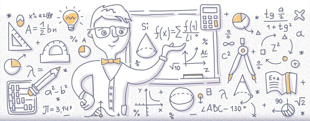 Math doodle image