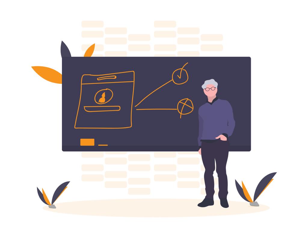 illustration of teacher