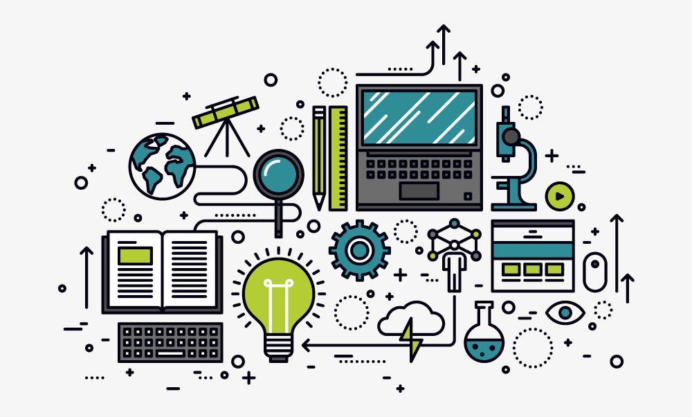 innovation in education concept illustration