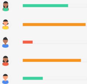 illustration of student grades