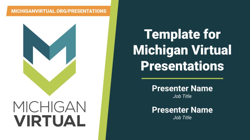 Michigan Virtual Slide Template Cover