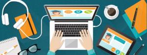 illustration of online learning