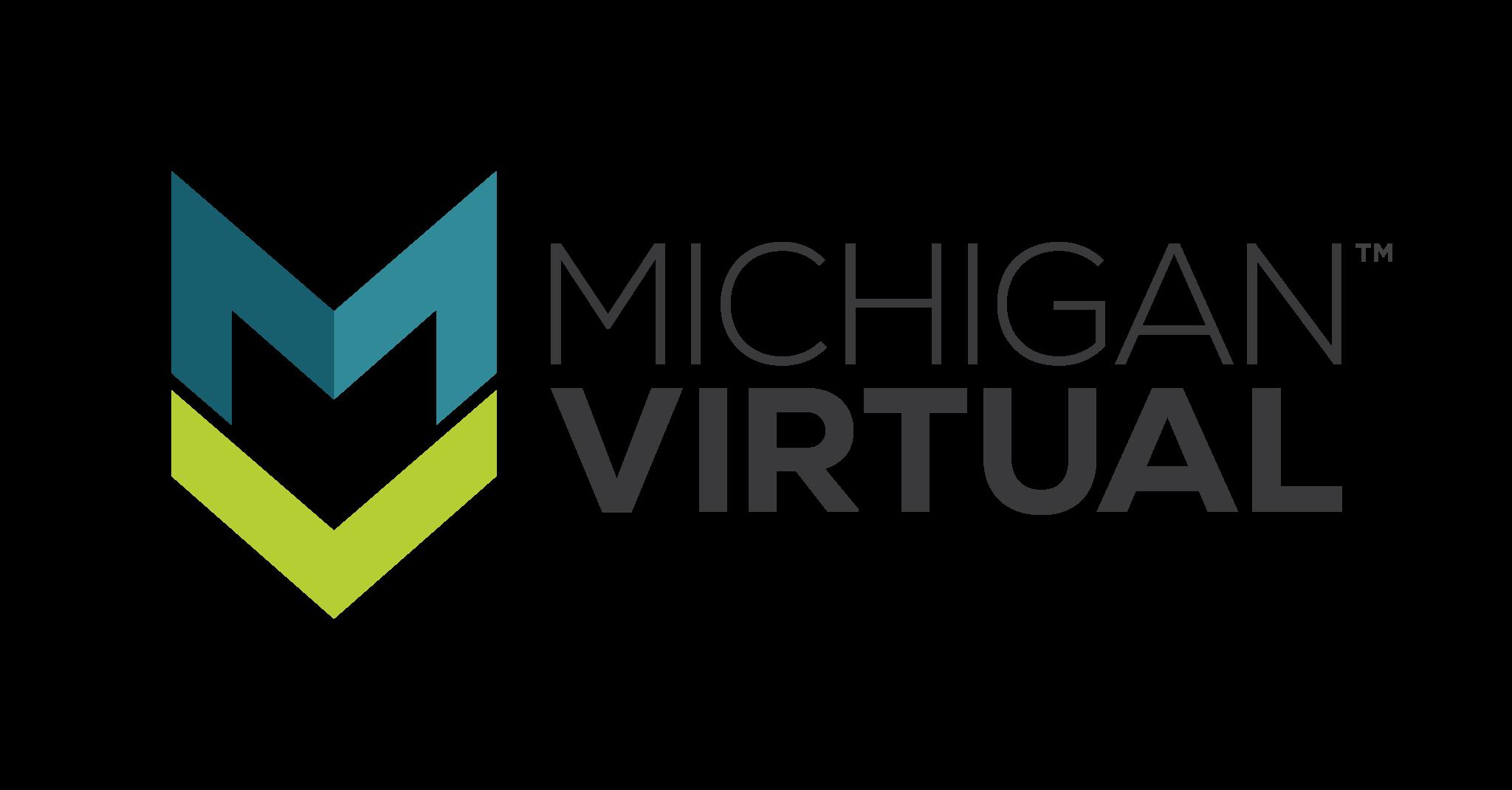 Michigan Virtual Logo (Horizontal Stacked)