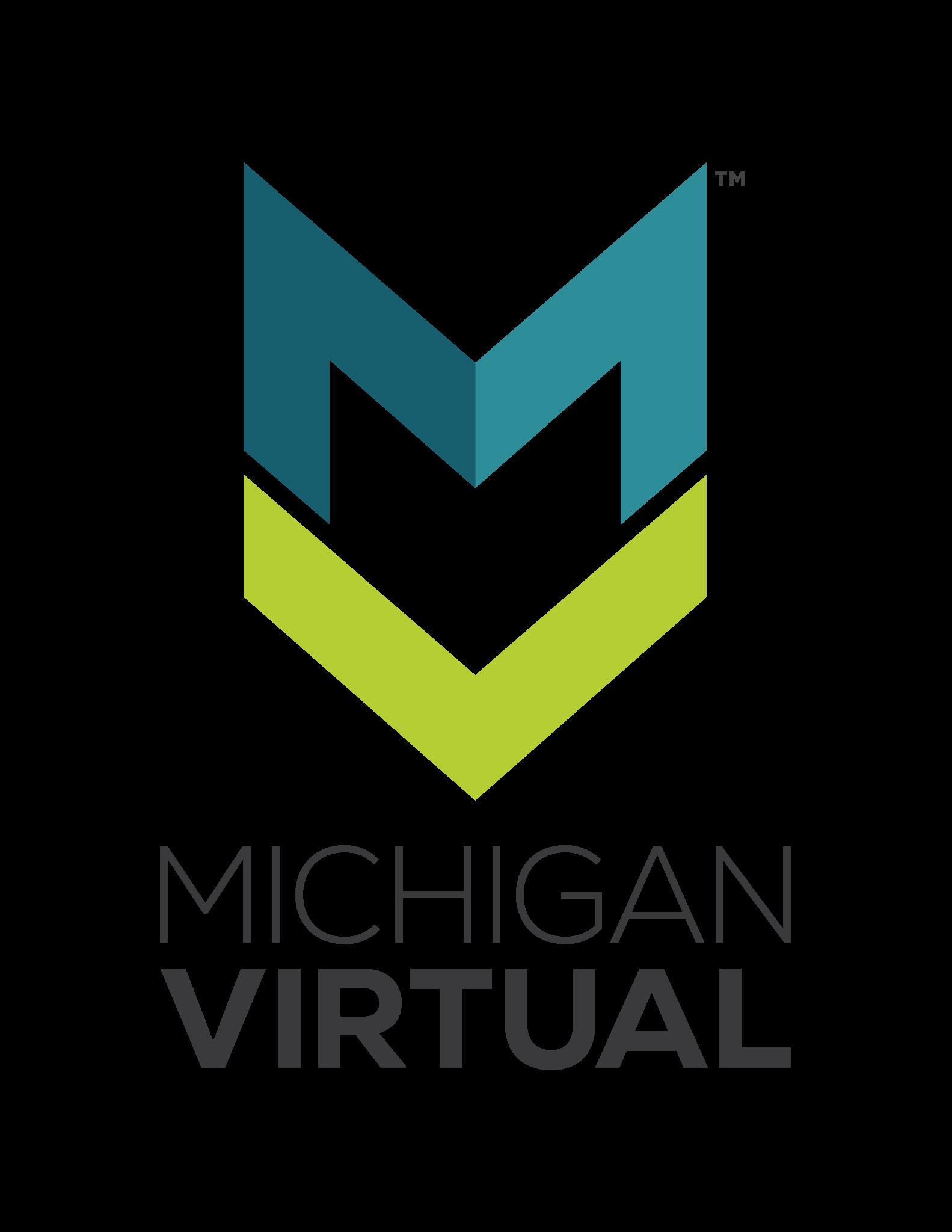 Michigan Virtual Logo (Vertical Stacked)