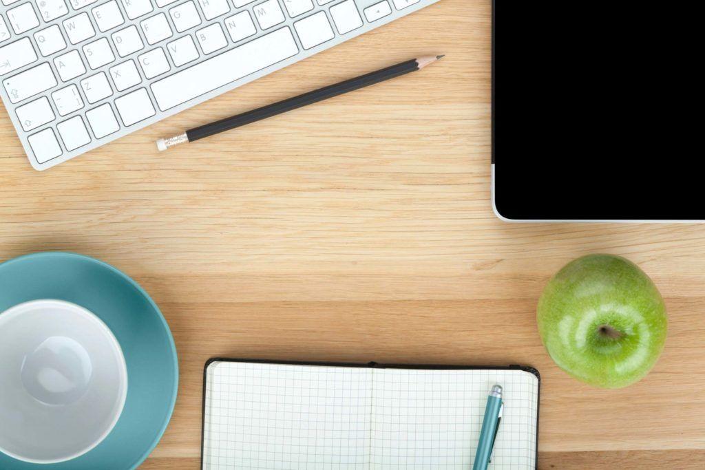 photo of a desk