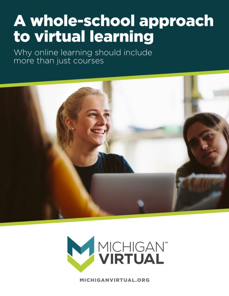 A whole-school approach to virtual learning. Why online learning should include more than just courses