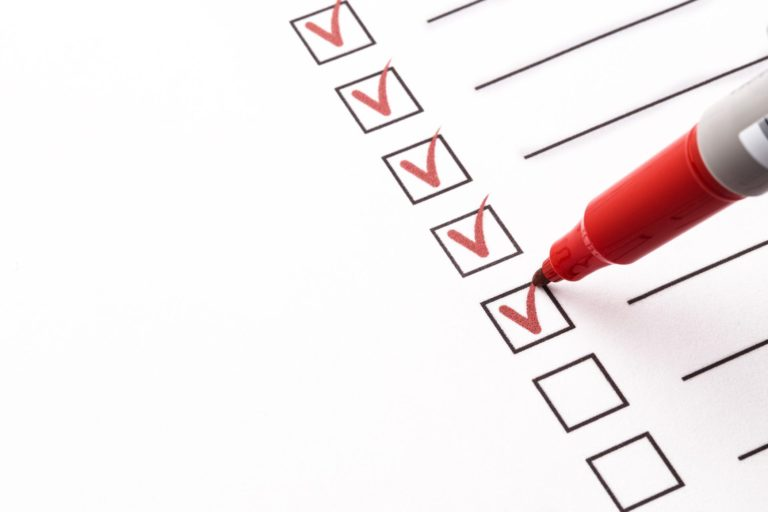 photo of a checklist